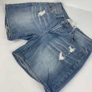 Portmans Distressed Style Jean Shorts - Size 8